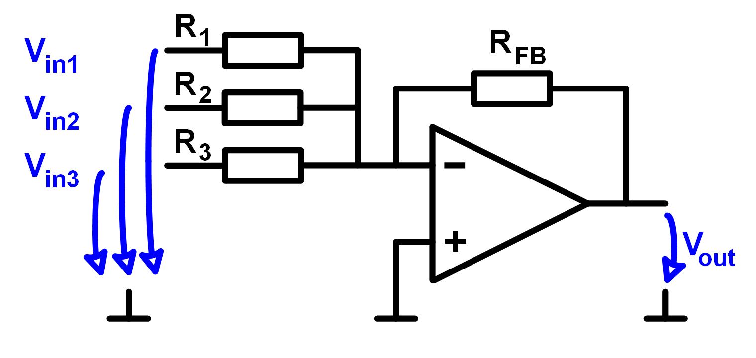 operationsverstaerker invertierender addierer. Black Bedroom Furniture Sets. Home Design Ideas